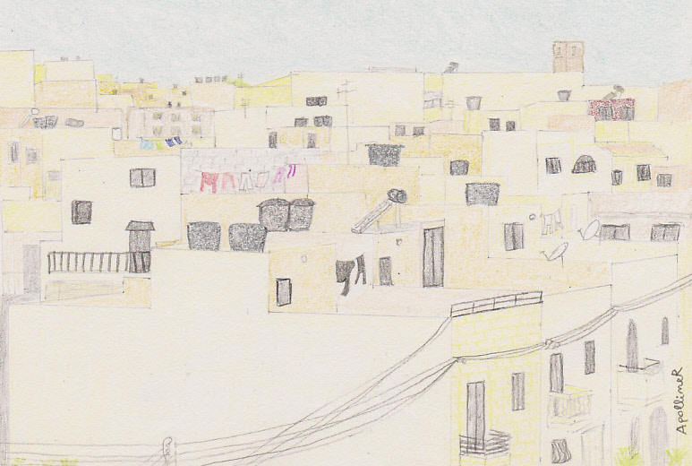 drawing of Maltese roofs